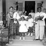 Rosemary Domino with her husband Fats Domino and children in 1960s