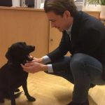 Sebastian Kurz, a dog lover