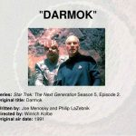 Star Trek The Next Generation episode Darmok