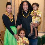 Troy Polamalu with his wife and sons