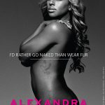 Alexandra Burke shot naked for PETA