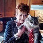 Beverly Young Nelson, a cat lover