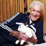 Bob Barker WIth His Rabbit