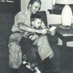 David Cassidy childhood photo with his father