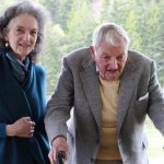 David Rockefeller With His Daughter Neva Goodwin