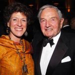 David Rockefeller With His Daughter Peggy Dulany