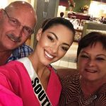 Demi-Leigh Nel-Peters with her parents