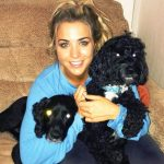 Gemma Atkinson, a dog lover