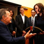 George H W Bush With Heather Lind