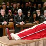 George W Bush Attending Funeral For Pope John Paul II