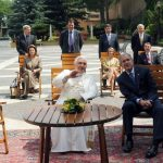 George W Bush With Pope Benedict XVI at the Vatican