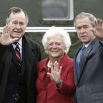 George W Bush (extreme right) With His Parents