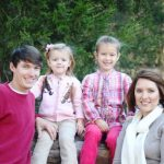 Heather Moore with her husband and daughters