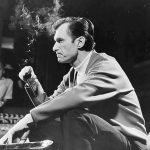 Hugh Hefner Smoking