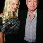 Hugh Hefner With His Ex-Girlfriend Holly Madison