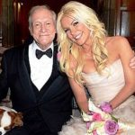 Hugh Hefner With His Wife Crystal Harris