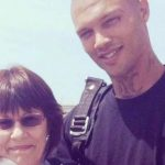 Jeremy Meeks with his mother