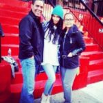 Jessica Caban with her parents