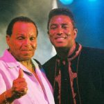Katherine Jackson's husband Joe Jackson with their son Jermaine Jackson
