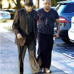 Katherine Jackson's husband Joe Jackson with their son Randy Jackson