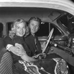 Kirk Douglas With His Ex-Girlfriend Evelyn Keyes