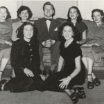 Kirk Douglas With His Sisters