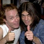Malcolm (right) with his brother Angus Young