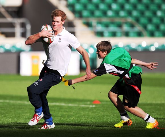 Prince Harry - Rugby Coach