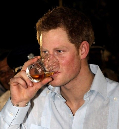 Prince Harry drinking alcohol