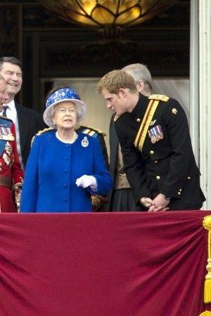 Prince Harry with Queen Elizabeth II