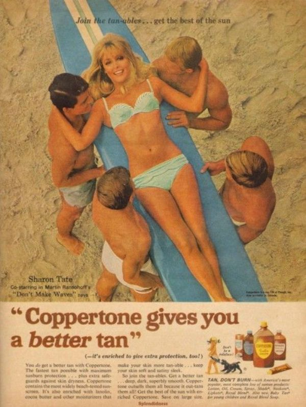 Sharon Tate Featured in an Advertisement