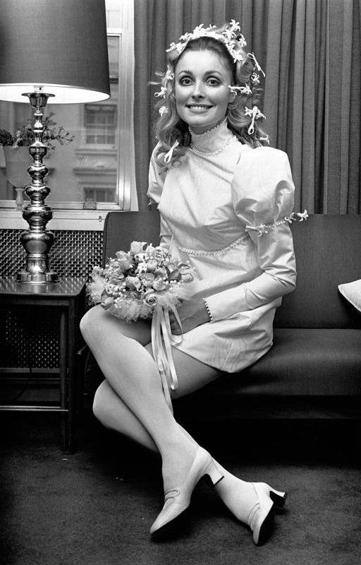 Sharon Tate on her Wedding Day