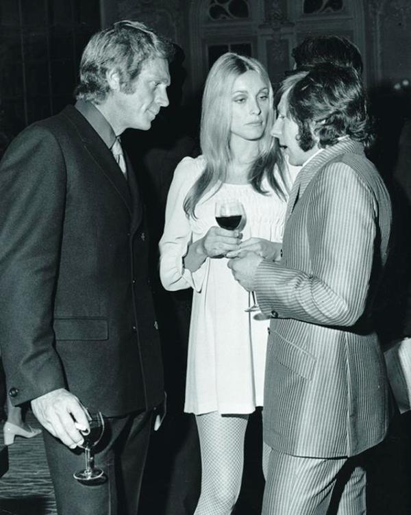 Sharon Tate with a Glass of Wine