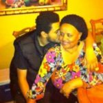 The Weeknd with his mother