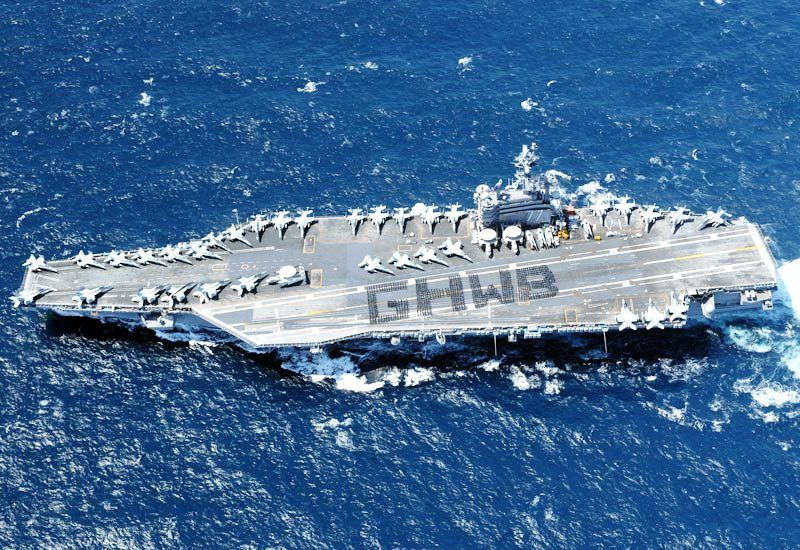 USS George H W Bush Aircraft Carrier