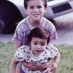 Anthony picture from childhood with his sister
