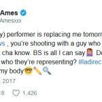 August Ames tweet