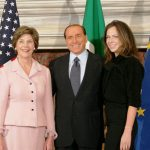 Barbara Bush With Her Mother And The Then Italian Prime Minister Silvio Berlusconi