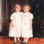 Barbara Bush With Her Twin Sister Jenna In Her Childhood
