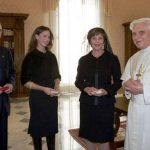 Barbara Bush With Pope Benedict XVI in Vatican City