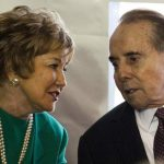 Bob Dole With His Wife Elizabeth Dole