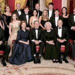 Seated left to right: Marvin Bush, Laura Bush, George W. Bush, Barbara Bush, George H. W. Bush, Jeb Bush. Also pictured, from left: Georgia Grace Koch, Margaret Bush, Brian Berzins Walker Bush, Jenna Bush Hager, Doro Bush, Barbara Pierce Bush, Robert P. Koch, Pierce Bush, Maria Bush, Neil Bush, Ashley Bush, Sam LeBlond, Robert Koch, Nancy Ellis LeBlond, John