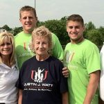 J J Watt with his family