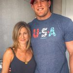 JJ Watt with Jennifer Aniston