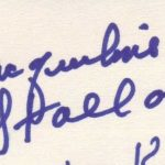 Jackie Stallone's Signature