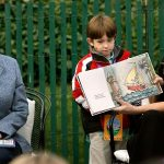 Jenna Ana Laura Bush With Their Book