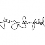 Jerry Seinfeld signature