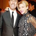 Jerry Seinfeld with his wife
