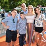 Jerry Seinfeld with his wife and children