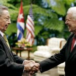 Jimmy Carter Meeting Raul Castro